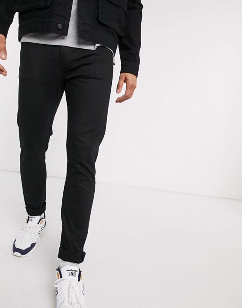 ウィークデイ メンズ デニムパンツ ボトムス Weekday Form skinny jeans in stay black Black