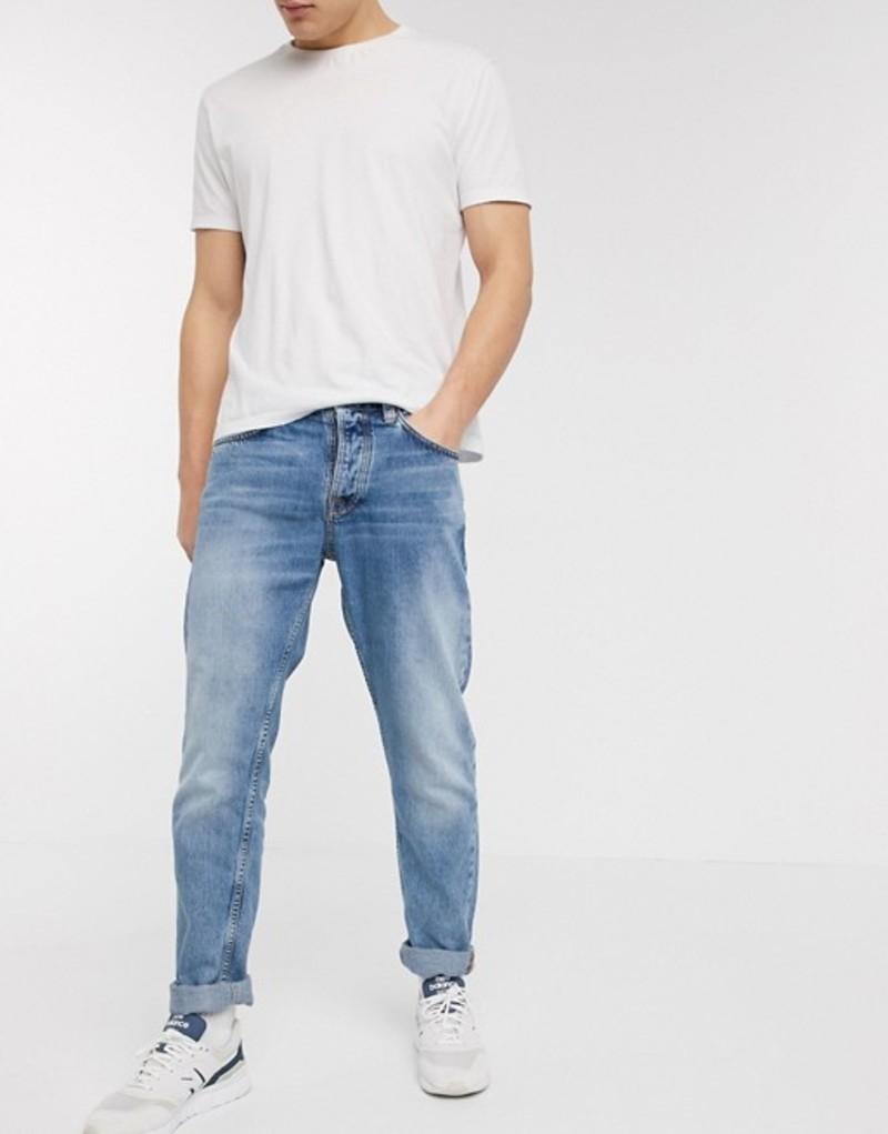 ヌーディージーンズ メンズ デニムパンツ ボトムス Nudie Jeans Co Steady Eddie II regular tapered fit jeans in sunday blues Blue