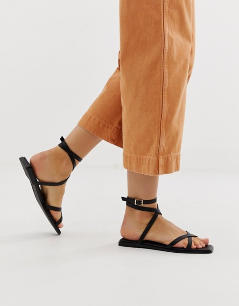 エイソス レディース サンダル シューズ ASOS DESIGN Foresight strappy sandals in black Black