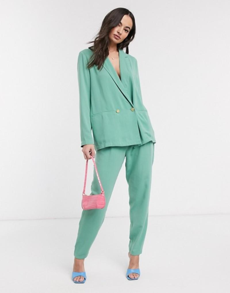 イチ レディース カジュアルパンツ ボトムス Ichi pastel suit pants Malachite green