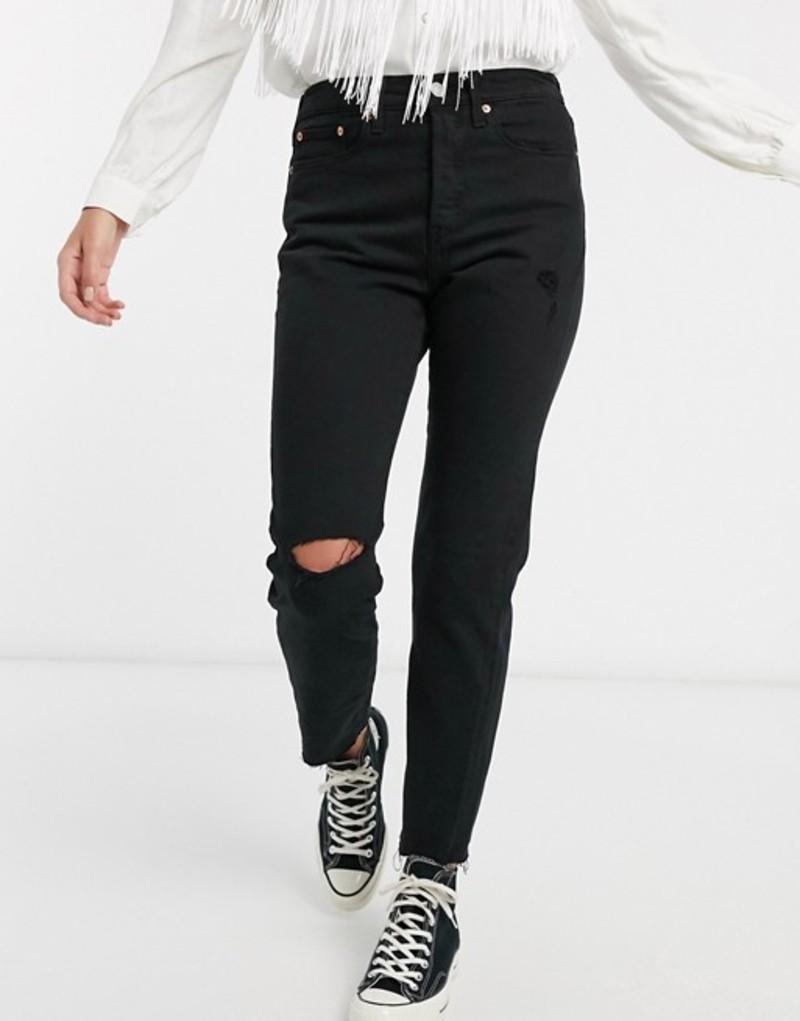 リーバイス レディース デニムパンツ ボトムス Levi's wedgie icon fit jeans in black Black