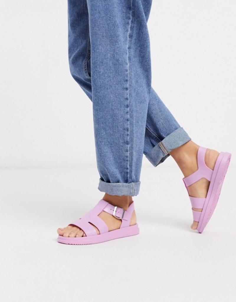 ロンドンレベル レディース サンダル シューズ London Rebel gladiator jelly sandal in pink Pink