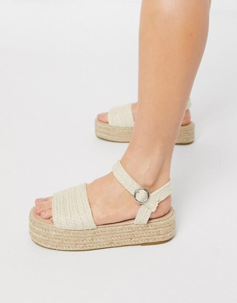 サウスビーチ レディース サンダル シューズ South Beach flatform espadrille sandals in woven Woven