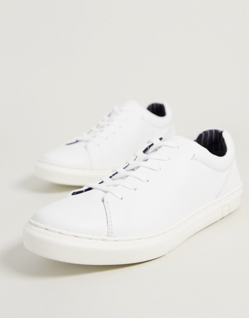 シルバー ストリート メンズ スニーカー シューズ Silver Street chunky sole leather sneaker in white White