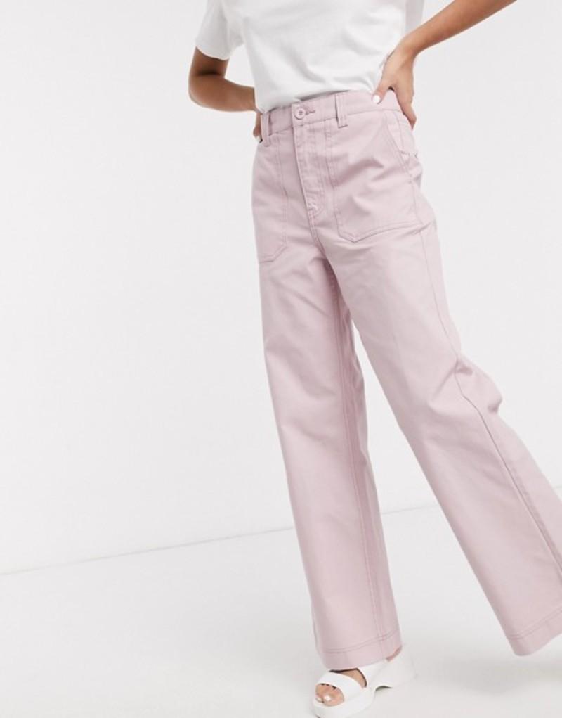 ドクターデニム レディース デニムパンツ ボトムス Dr Denim Tuva high rise worker jean with front pocket detail in light pink Rose quartz