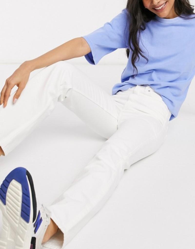 ウィークデイ レディース デニムパンツ ボトムス Weekday Rowe organic cotton straight leg jeans in white White