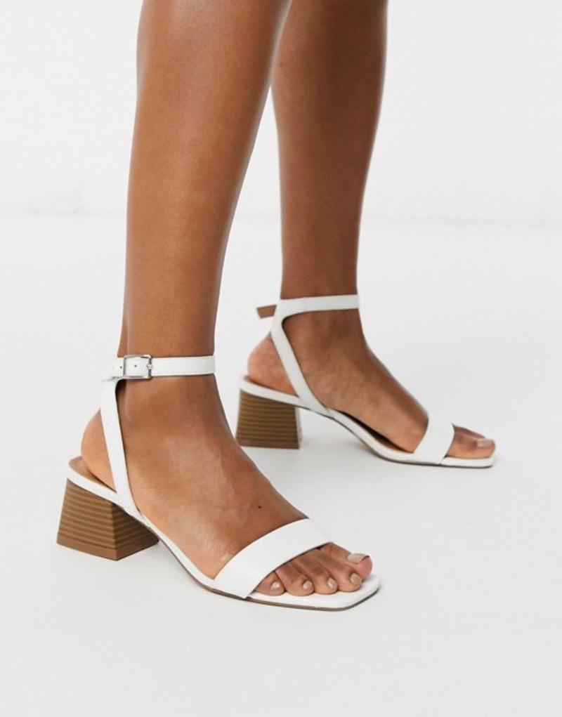 エイソス レディース サンダル シューズ ASOS DESIGN Hocco block heeled sandals in white White