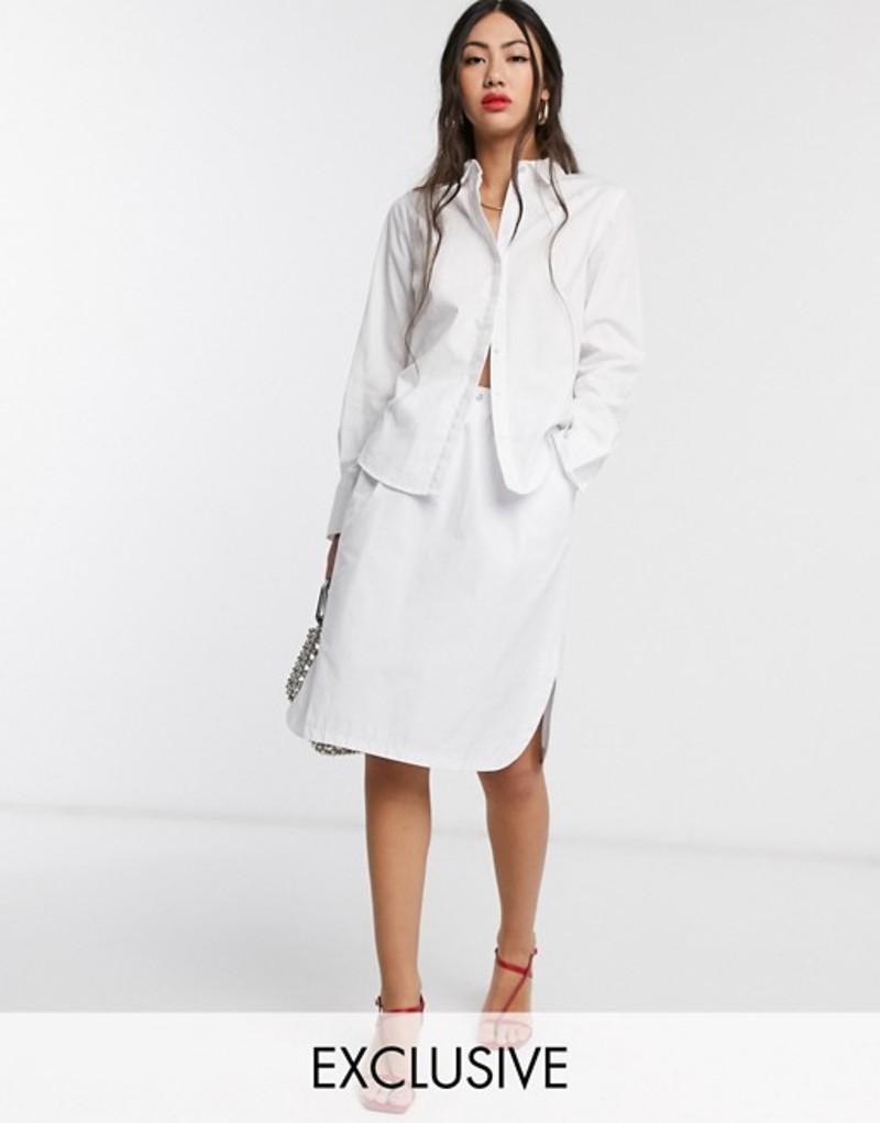ネイティブユース レディース スカート ボトムス Native Youth mini track skirt with toggle White