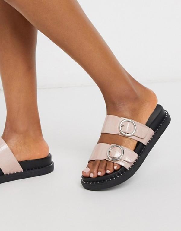 グラマラス レディース サンダル シューズ Glamorous chunky flat sandal in blush Blush pink