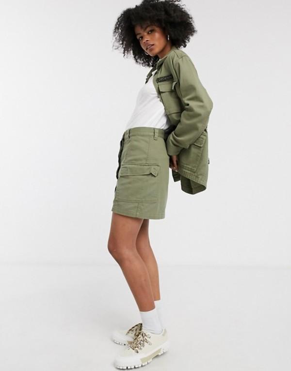ドクターデニム レディース スカート ボトムス Dr Denim utility pocket skirt Light emerald