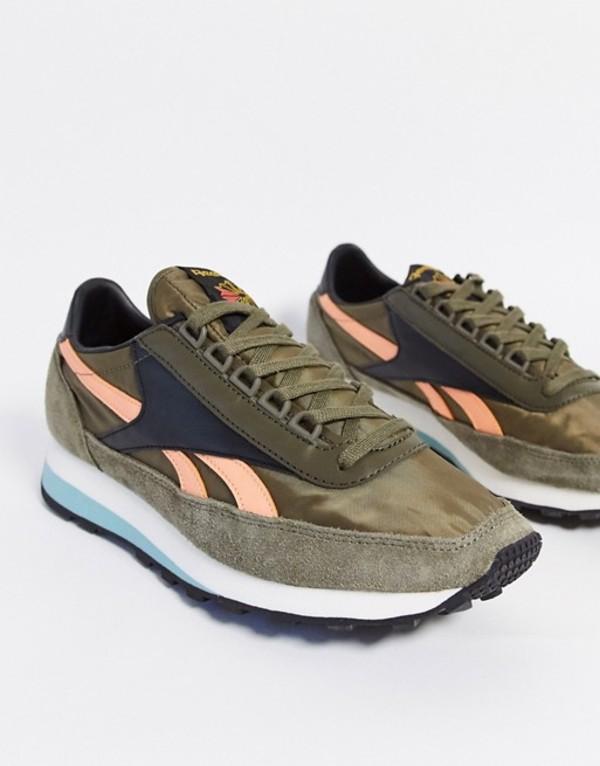 リーボック メンズ スニーカー シューズ Reebok geo-tribal OG runner sneakers in green Gr1 - green 1