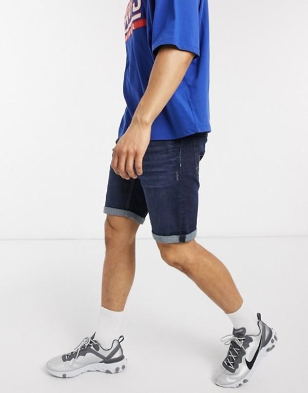 エスプリ メンズ ハーフパンツ・ショーツ ボトムス Esprit slim denim short in dark blue Blue