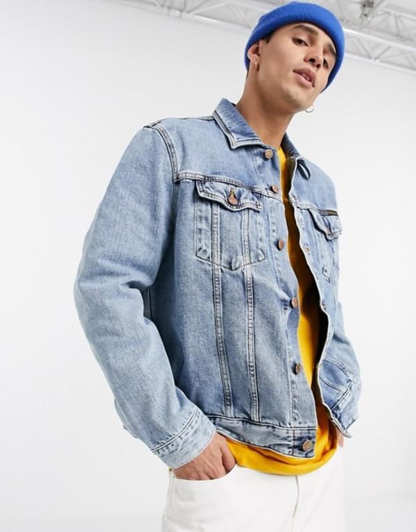 ヌーディージーンズ メンズ ジャケット・ブルゾン アウター Nudie Jeans Co Jerry indigo gaze denim jacket Blue