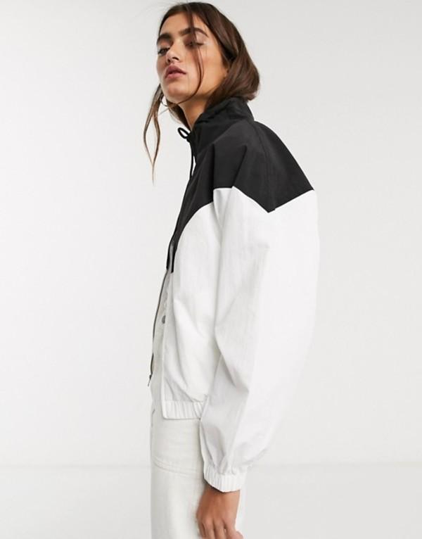 フレッドペリー レディース ジャケット・ブルゾン アウター Fred Perry chevron shell jacket in white White