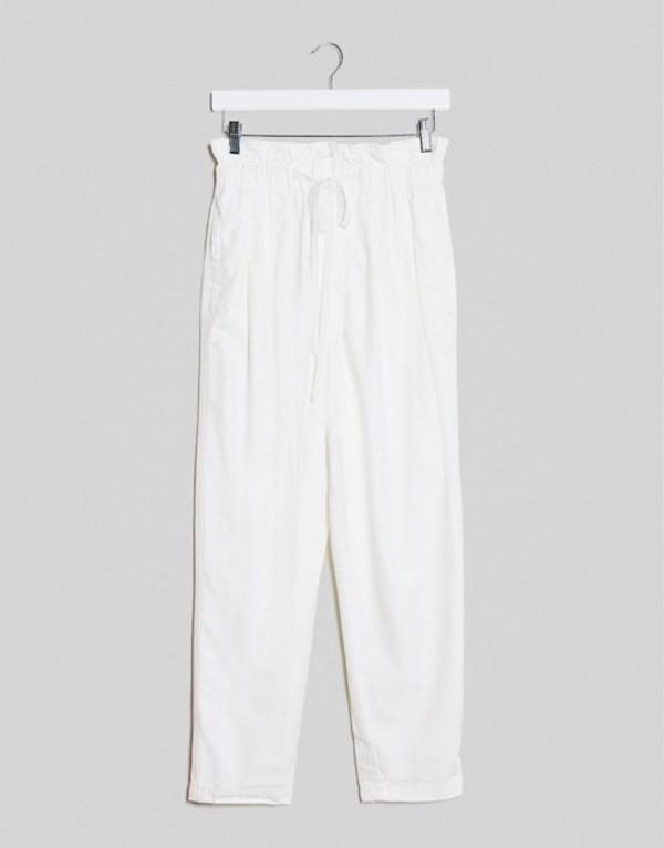 フリーピープル レディース カジュアルパンツ ボトムス Free People margate pleated pants White