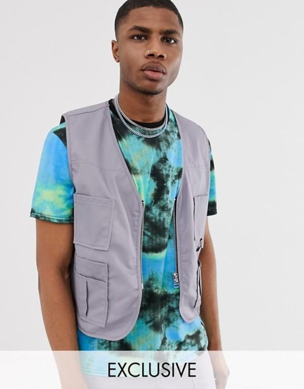 ザラグドプリースト メンズ タンクトップ トップス The Ragged Priest utility vest two-piece Gray
