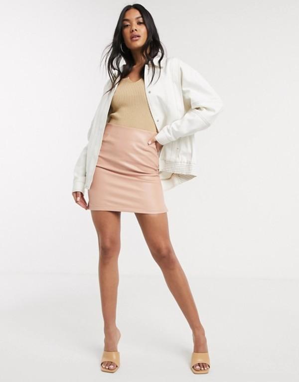 エイソス レディース ジャケット・ブルゾン アウター ASOS DESIGN contrast stitch jacket in white White