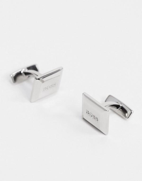 ボス メンズ カフスボタン アクセサリー BOSS Nel cufflinks in silver Silver