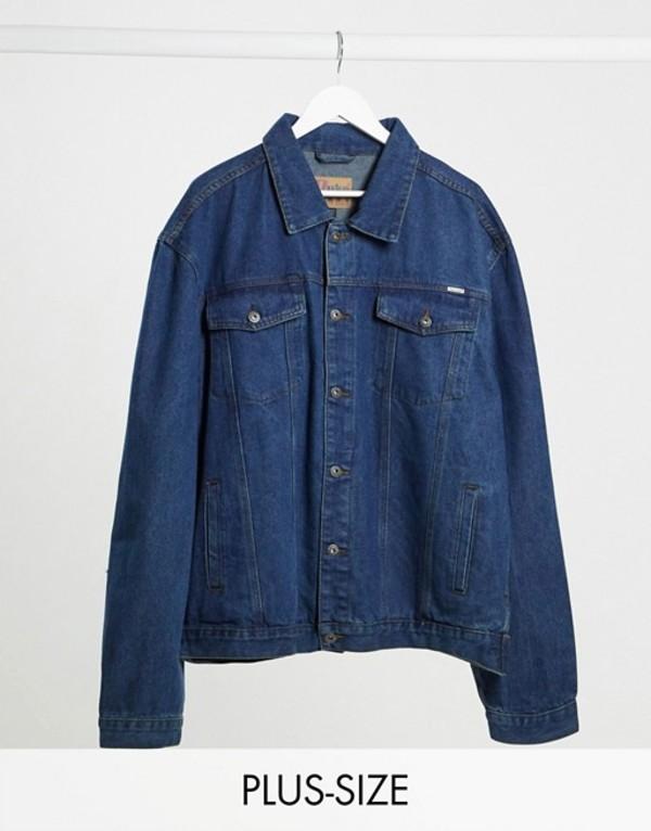 デューク メンズ ジャケット・ブルゾン アウター Duke Western Style Trucker Denim Jacket Blue stonewashed