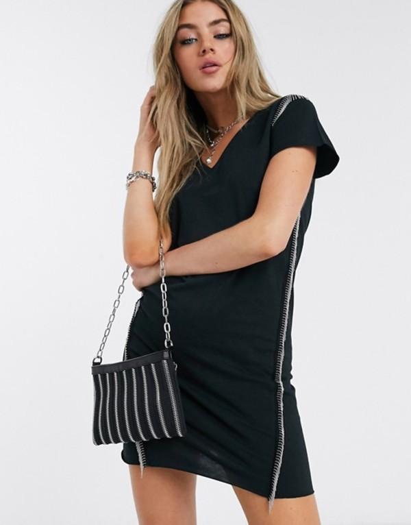 オールセインツ レディース ワンピース トップス AllSaints emelyn chain t-shirt mini dress Black