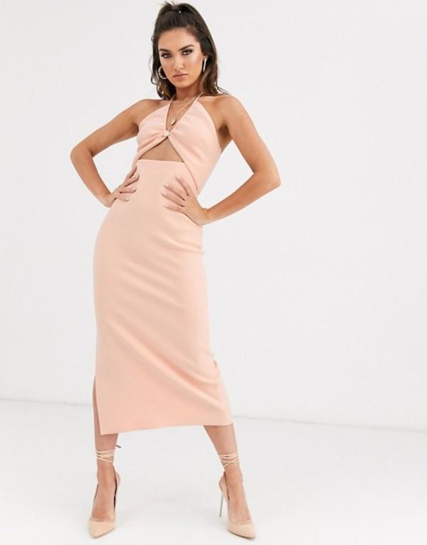 ベックアンドブリッジ レディース ワンピース トップス Bec & Bridge ruby asymmetrical bodycon midi dress in peach Peach
