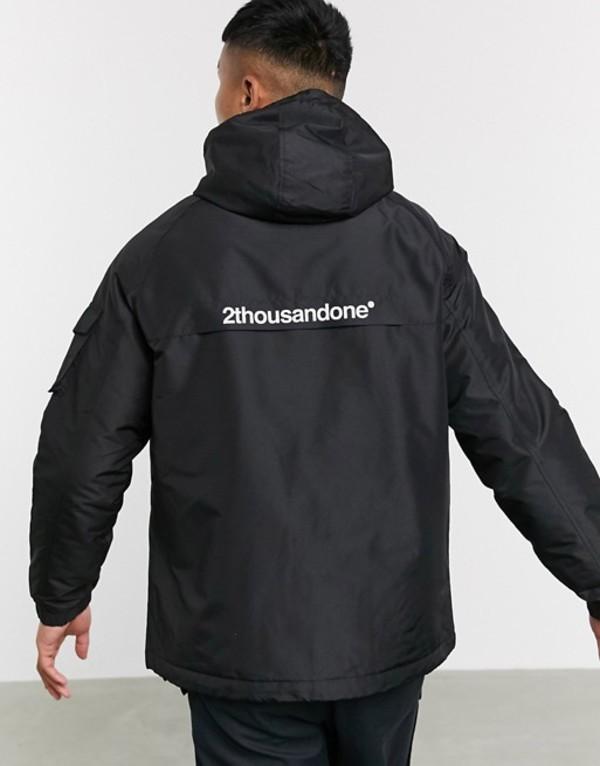 ベルシュカ メンズ ジャケット・ブルゾン アウター Bershka padded jacket in black Black