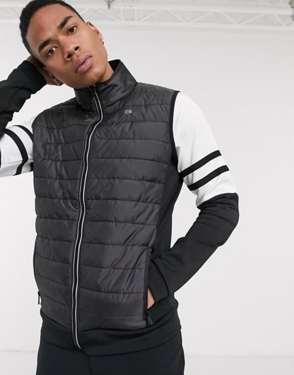 カルバンクラインゴルフ メンズ タンクトップ トップス Calvin Klein Golf Hybrid padded vest in black Black