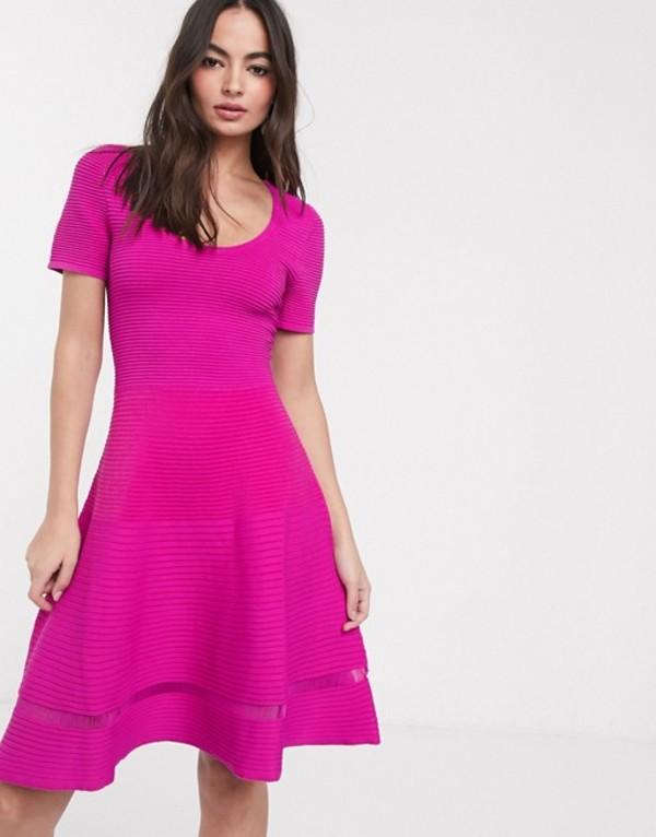 フレンチコネクション レディース ワンピース トップス French Connection voletta crepe short sleeve dress Pink