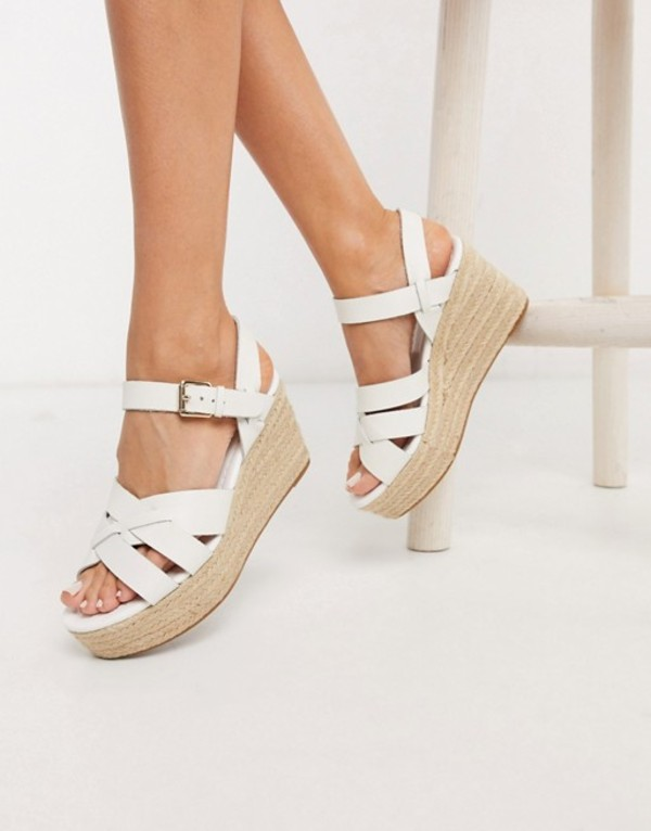 アルド レディース サンダル シューズ ALDO Meresha wedge espadrille sandals in white White