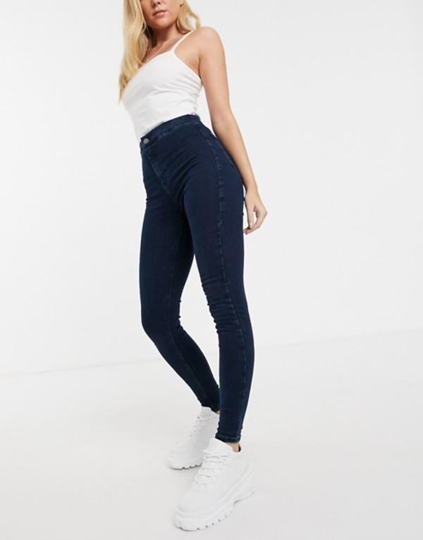 トップショップ レディース デニムパンツ ボトムス Topshop Joni skinny jeans in dark wash Indigo