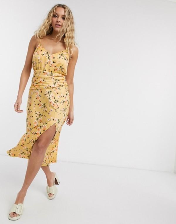 エイソス レディース ワンピース トップス ASOS DESIGN cami maxi dress with ruched waist in spring floral print Spring floral print