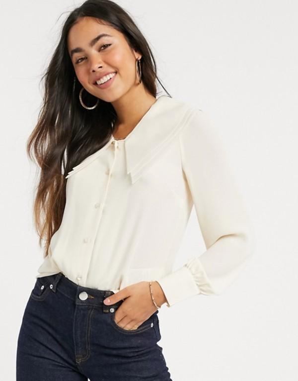 ワイエーエス レディース ジャケット・ブルゾン アウター Y.A.S oversized collar blouse Ivory