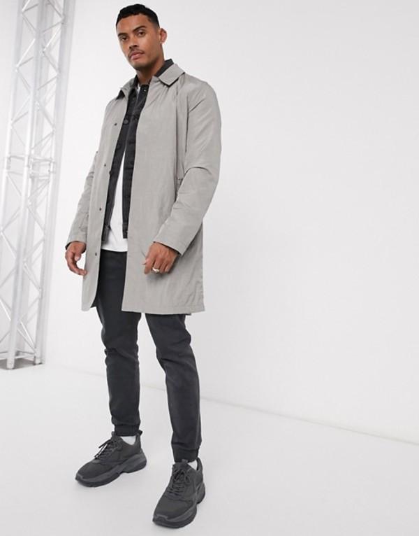 エイソス メンズ コート アウター ASOS DESIGN lightweight trench coat in light gray Light gray