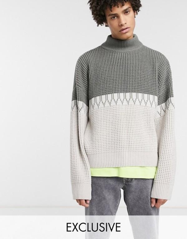 ノーク メンズ ニット・セーター アウター Noak high neck chunky sweater in gray Gray