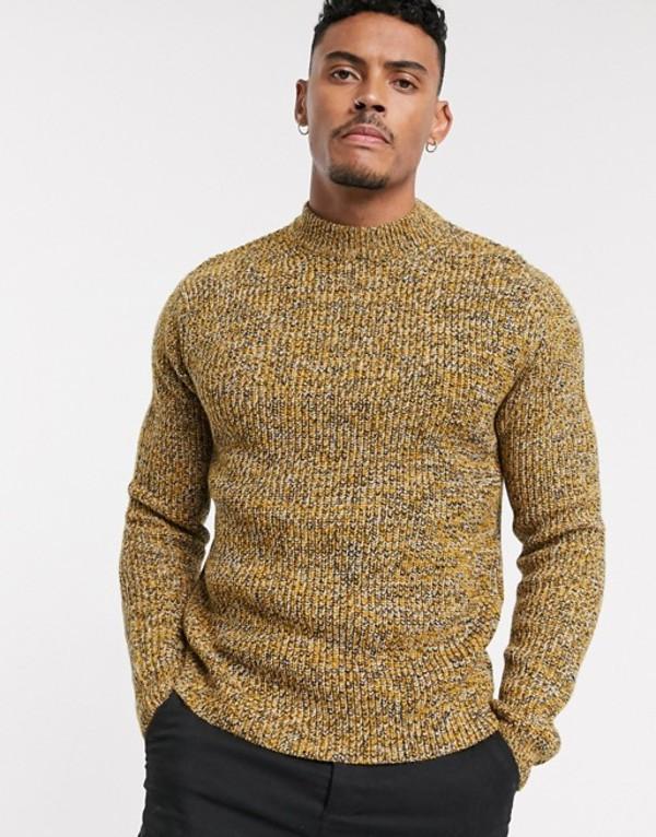 トップマン メンズ ニット・セーター アウター Topman turtleneck sweater in mustard Mustard