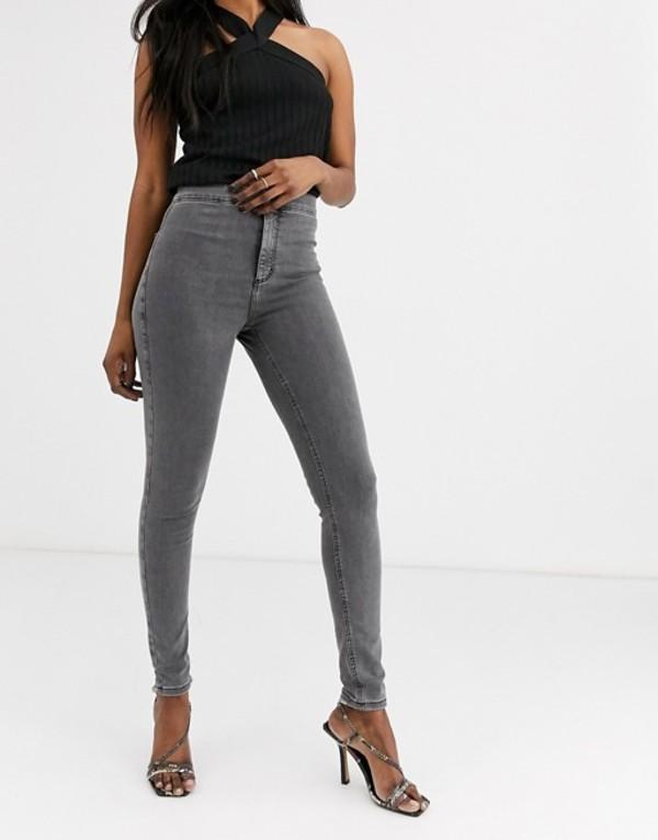 トップショップ レディース デニムパンツ ボトムス Topshop Joni skinny jeans in gray Gray