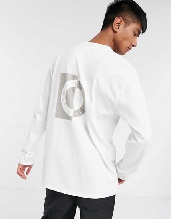 トップマン メンズ シャツ トップス Topman LTD long sleeve t-shirt with circle print in white White