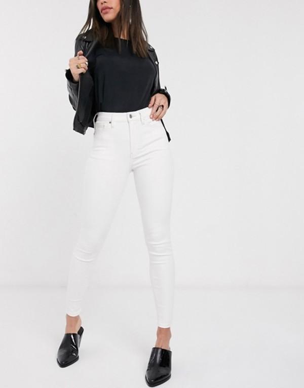 トップショップ レディース デニムパンツ ボトムス Topshop Jamie jeans in off white White