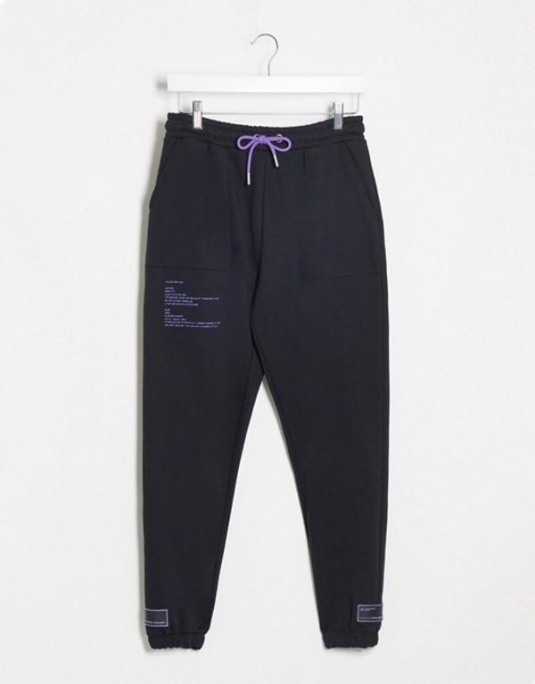 ザ クチュール クラブ レディース カジュアルパンツ ボトムス The Couture Club contrast trim cargo pants in black Black