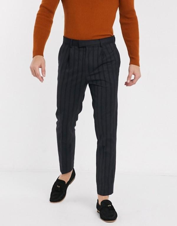 トップマン メンズ カジュアルパンツ ボトムス Topman smart pants in navy Navy blue