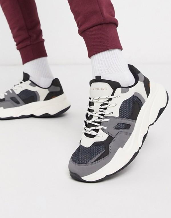 ベルシュカ メンズ スニーカー シューズ Bershka chunky sneakers with contrast white8wOvNnm0