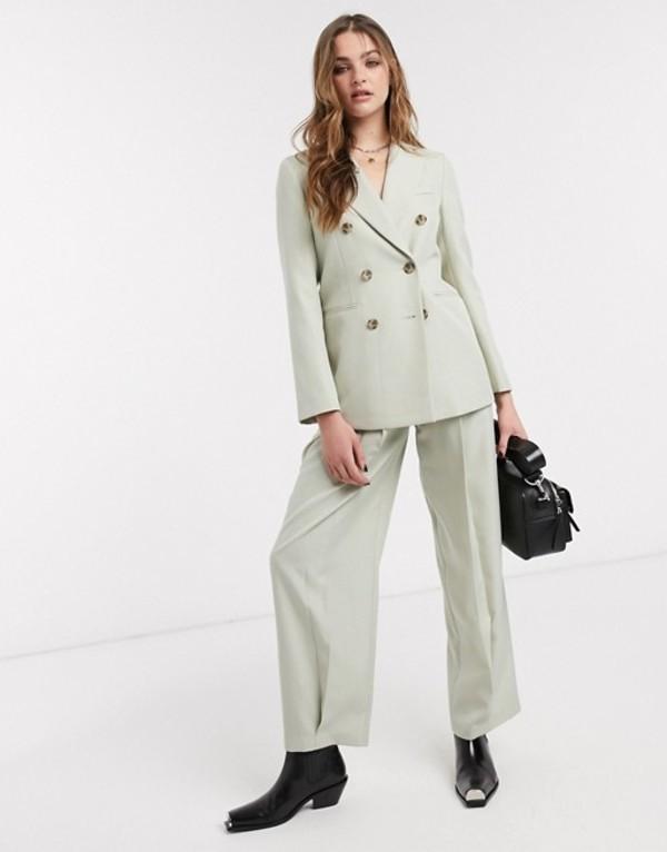 トップショップ レディース カジュアルパンツ ボトムス Topshop tailored pants two-piece in pale green Green