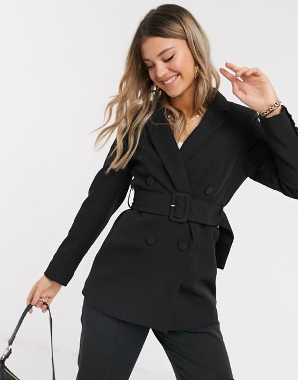 ニュールック レディース ジャケット・ブルゾン アウター New Look belted blazer in black two-piece Black