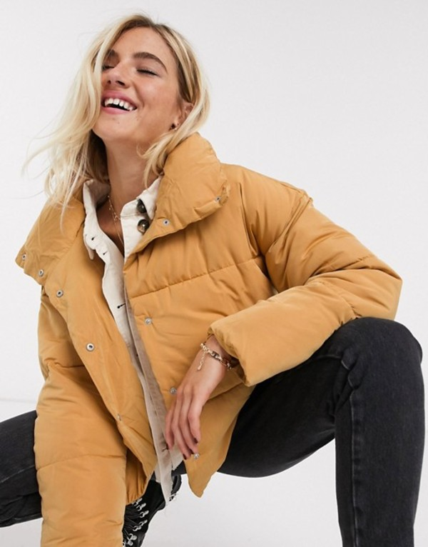 フリーピープル レディース コート アウター Free People weekend padded jacket in beige Beige