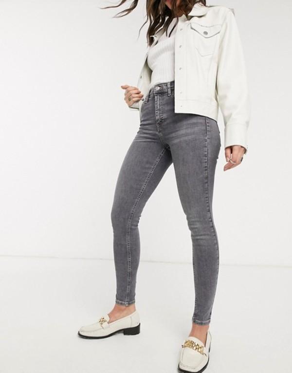 トップショップ レディース デニムパンツ ボトムス Topshop Jamie jeans in gray Gray