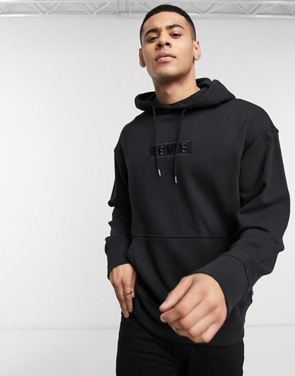 リーバイス メンズ パーカー・スウェット アウター Levi's relaxed graphic hoody Black