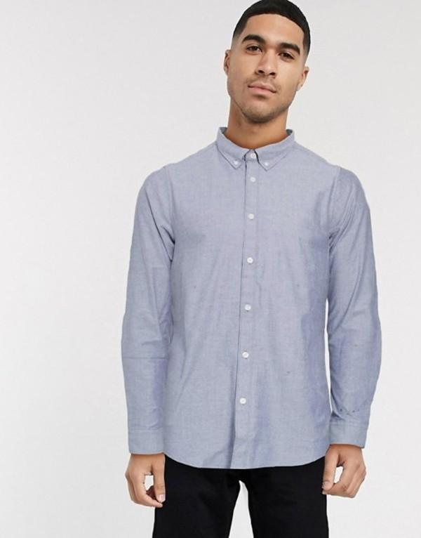 エスプリ メンズ シャツ トップス Esprit oxford shirt in blue Blue