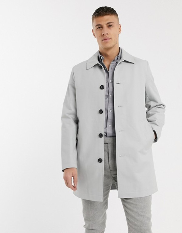 エイソス メンズ コート アウター ASOS DESIGN single breasted trench coat in gray Gray