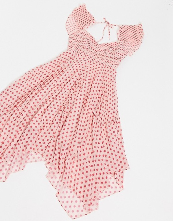 テルーラ レディース ワンピース トップス Talulah Power of Love polkadot mini dress in fuscia spot Fuscia spot