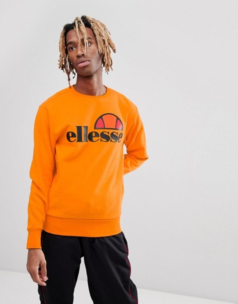 エレッセ メンズ パーカー・スウェット アウター ellesse Sweat With Large Chest Logo In Orange Orange
